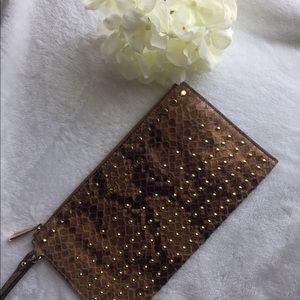 Michael Kors Bags | Jet Set Large Zip Snake print